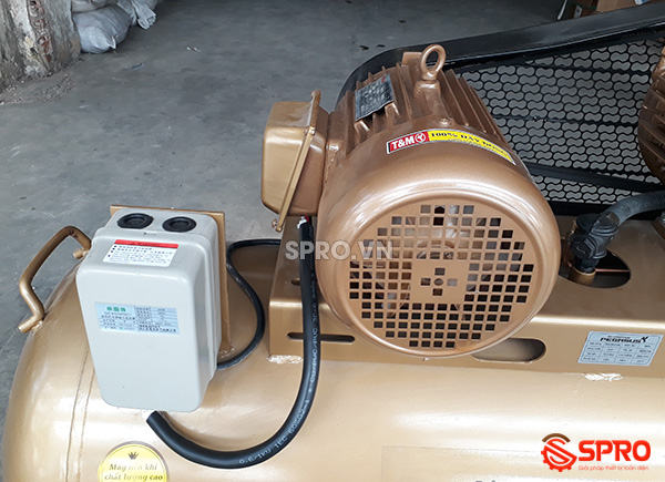 Cụm mô tơ máy bơm hơi 4HP giá rẻ Pegasus TM-V-0.36/12.5-230-380 Dung tích 230L
