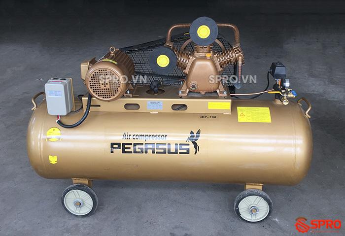 Máy bơm hơi 4HP giá rẻ Pegasus TM-V-0.36/12.5-230-380 Dung tích 230L