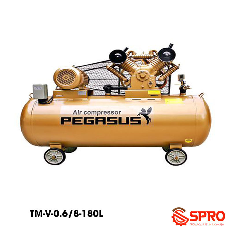 Máy bơm hơi 5.5HP Pegasus TM-V-0.6/8-180L - Dung tích 180L