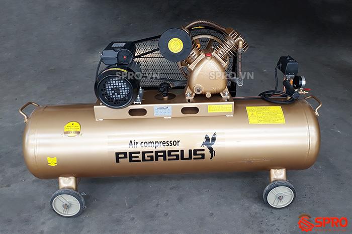 Máy bơm hơi giá rẻ 3HP PEGASUS TM-V-0.25/12.5-120L dung tích 120L