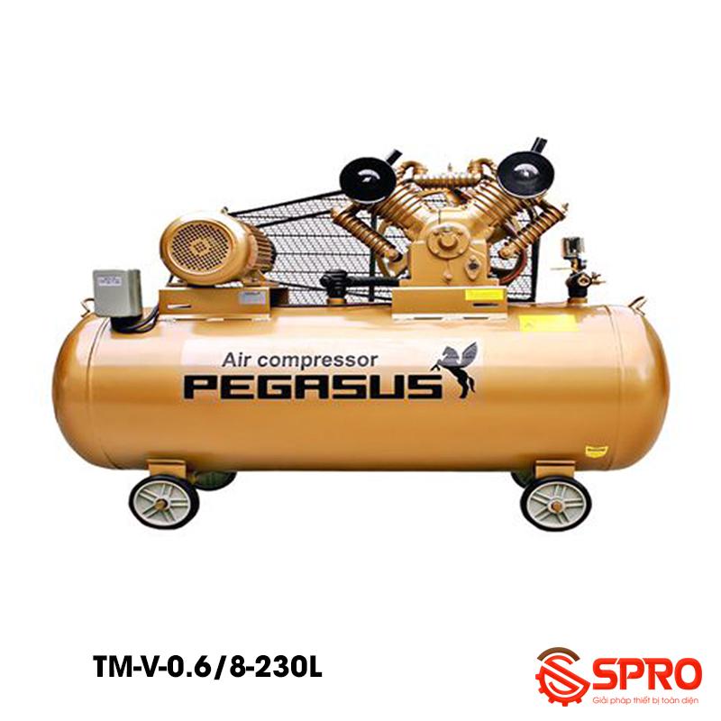 Máy bơm hơi, Máy nén khí 5.5HP bình chứa 230L Pegasus TM-V-0.6/8-230L