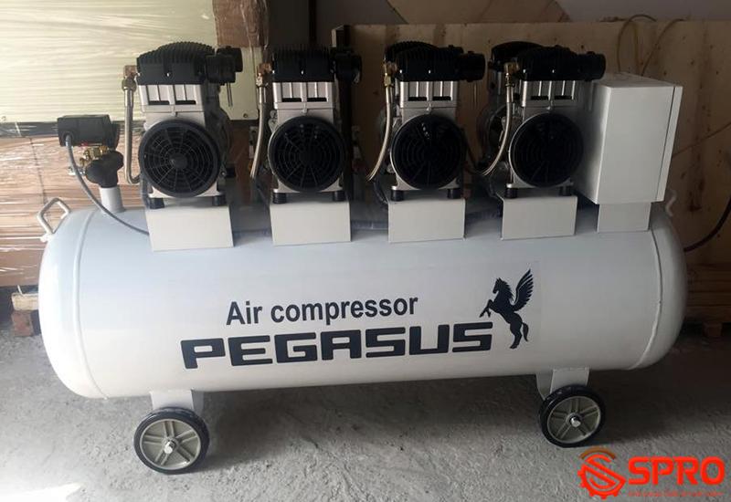 Máy bơm hơi không dầu 6HP Pegasus TM-OF1100X4-300L - Dung tích 300L
