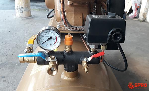 rơ le, van xả, đồng hồ, van an toàn máy nén khí pegasus 4hp bình 230L