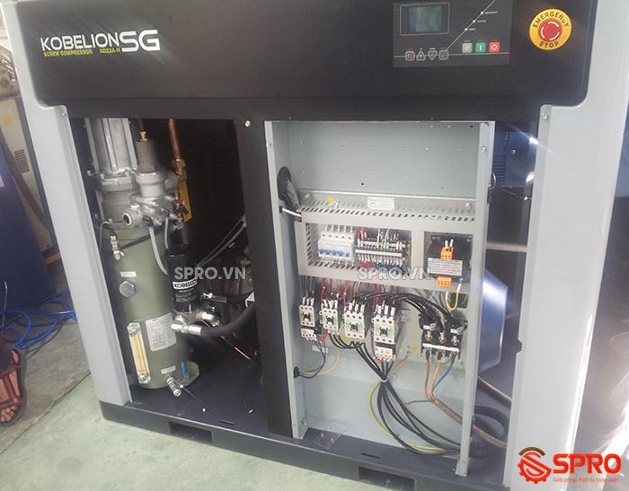 chi tiết Máy nén khí trục vít 30HP KOBELCO SG22A 22Kw giá rẻ