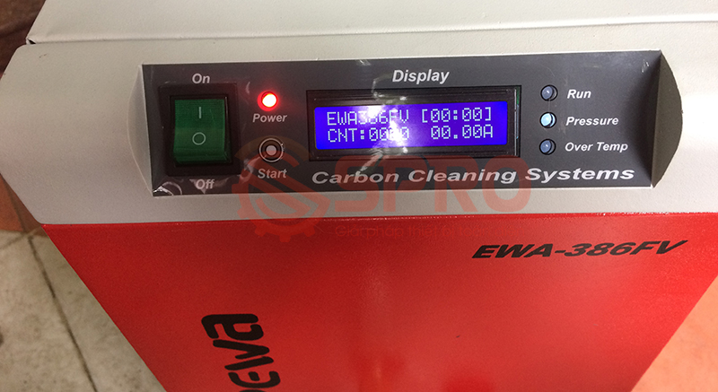 Máy vệ sinh buồng đốt xe máy EWA 386FV - làm sạch muội Cacbon