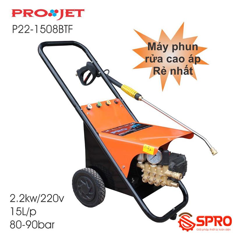 máy rửa xe cao áp projet p22-1508BTF chuyên dùng rửa xe hai bánh
