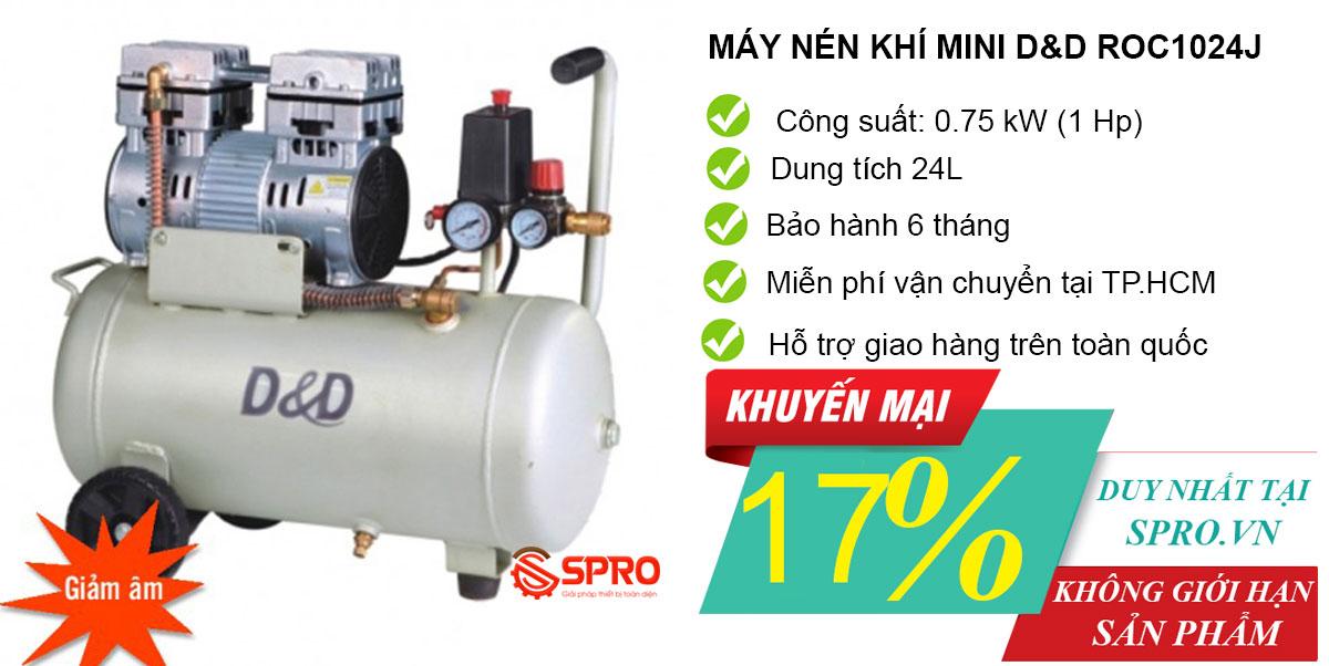 Mua máy bơm hơi mini, máy nén khí không dầu giá rẻ tại TP.HCM