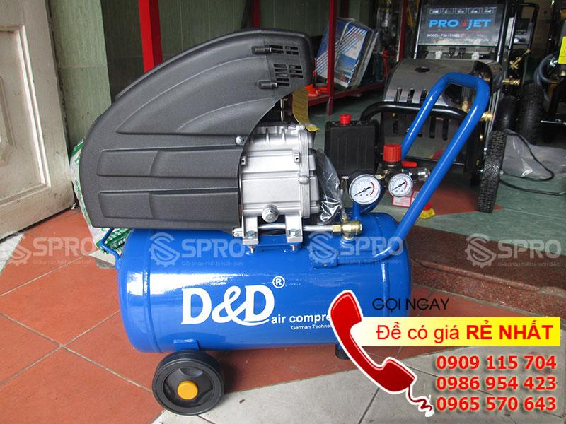 Máy nén khí Mini dùng để phun sơn 2 HP D & D RAC1524A - Dung tích 24L