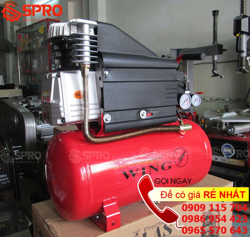 Máy nén khí mini dùng để phun sơn 2HP WING ZBM-0.1/8-24L - Dung tích 24L