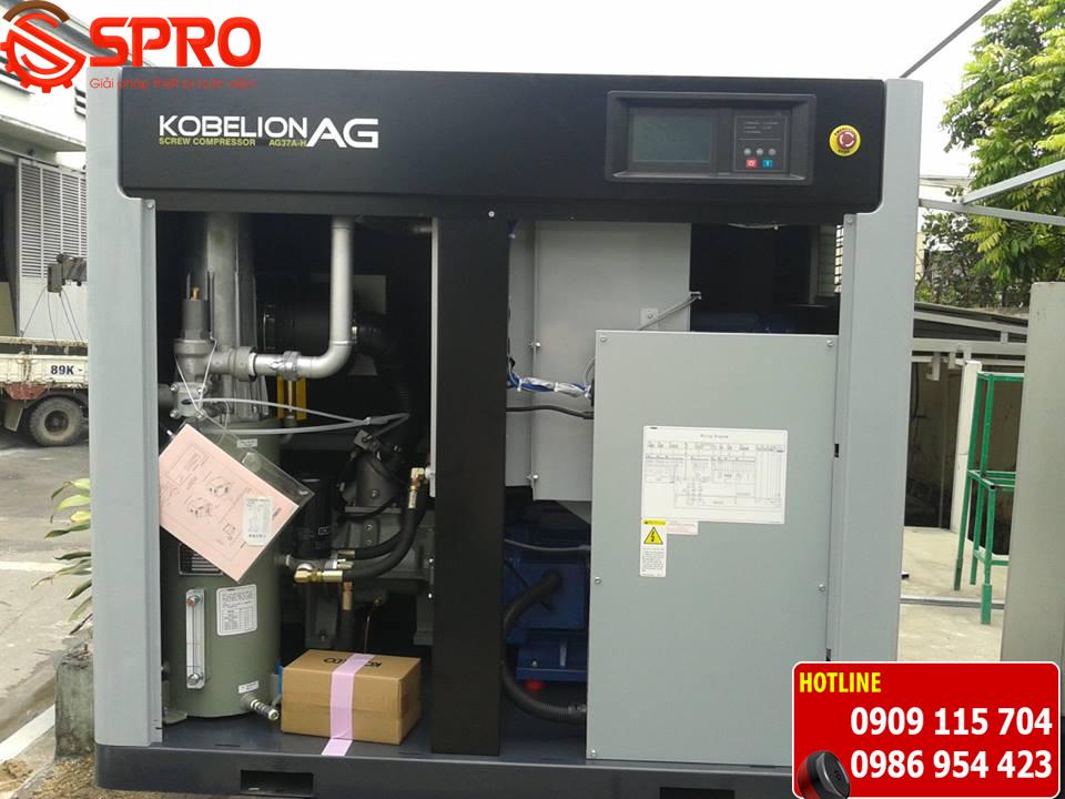 máy nén khí trục vít, máy nén khí trục vít kobelco, máy nén khí trục vít kobelco 37kw, máy nén khí kobelco 75kw