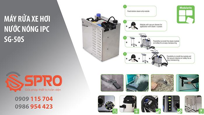 máy rửa xe hơi nước nóng ipc sg-50s