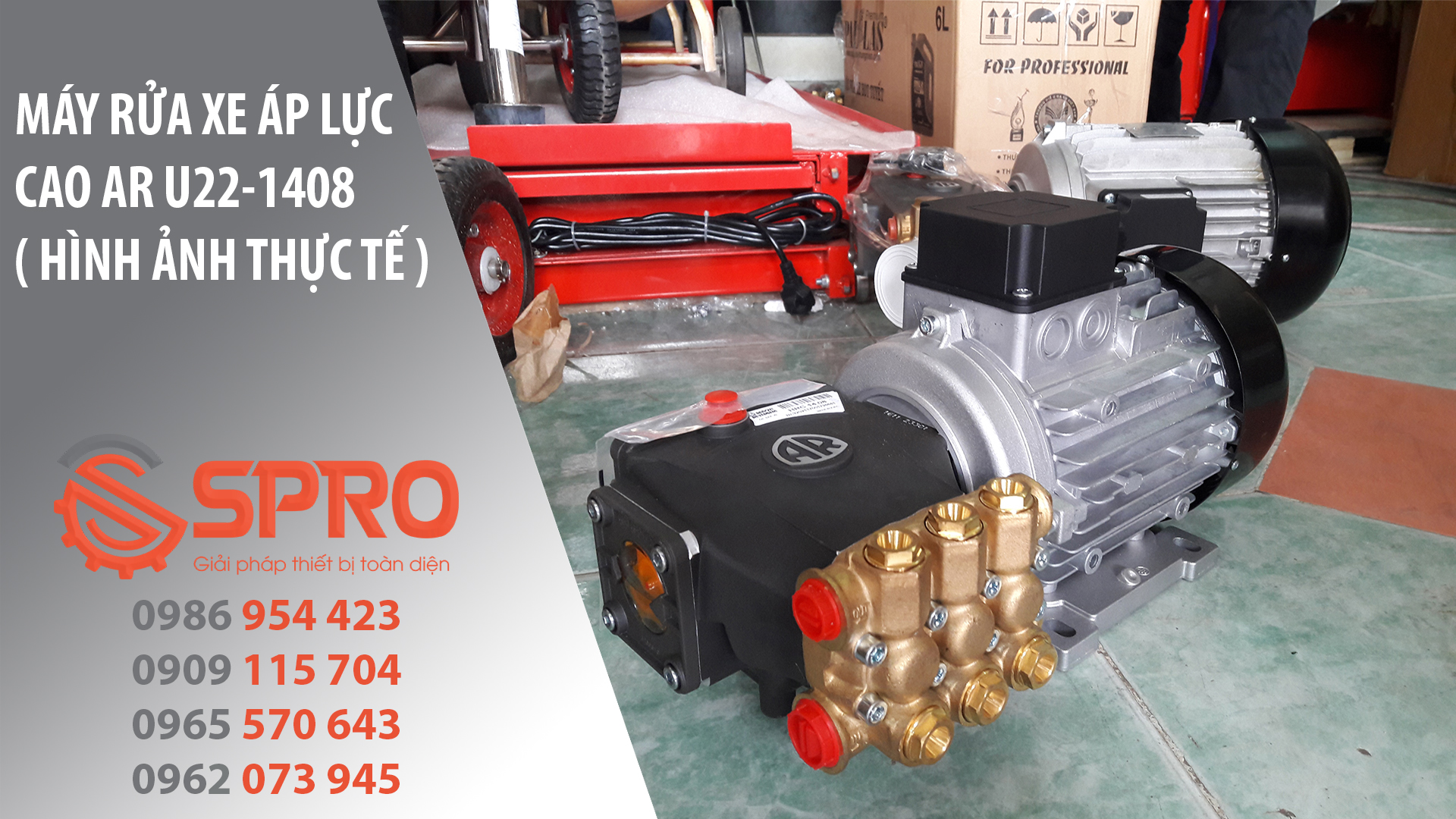 máy rửa xe áp lực cao AR U22-1408