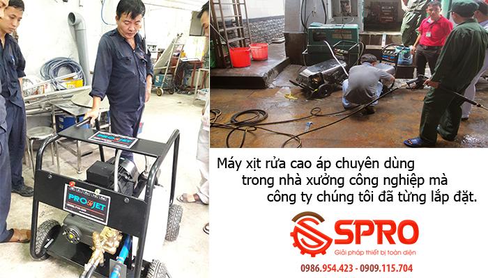 Máy xịt rửa áp lực cao chuyên vệ sinh công nghiệp, nhà xưởng