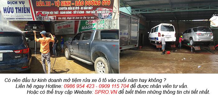 dịch vụ rửa xe vào cuối năm