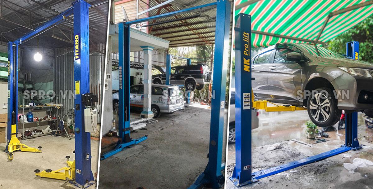 Cầu nâng 2 trụ kiểu cổng chuyên sửa xe ô tô