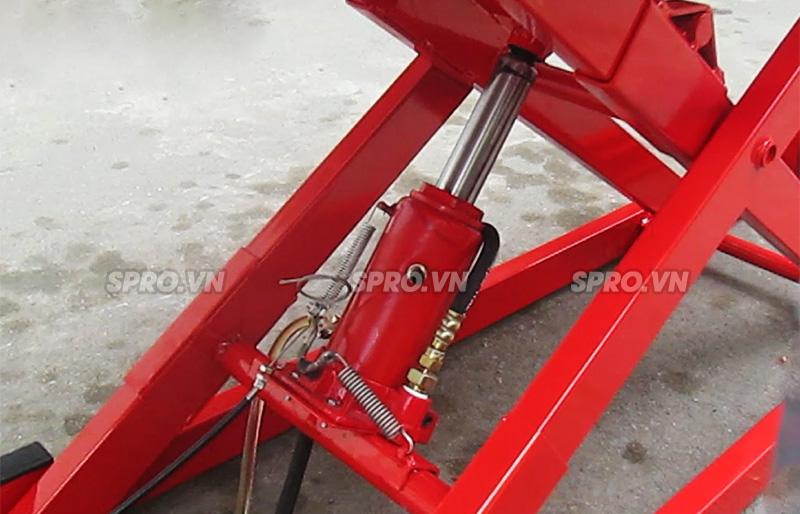 Hướng dẫn sử dụng bàn nâng xe máy dùng điện và đạp chân