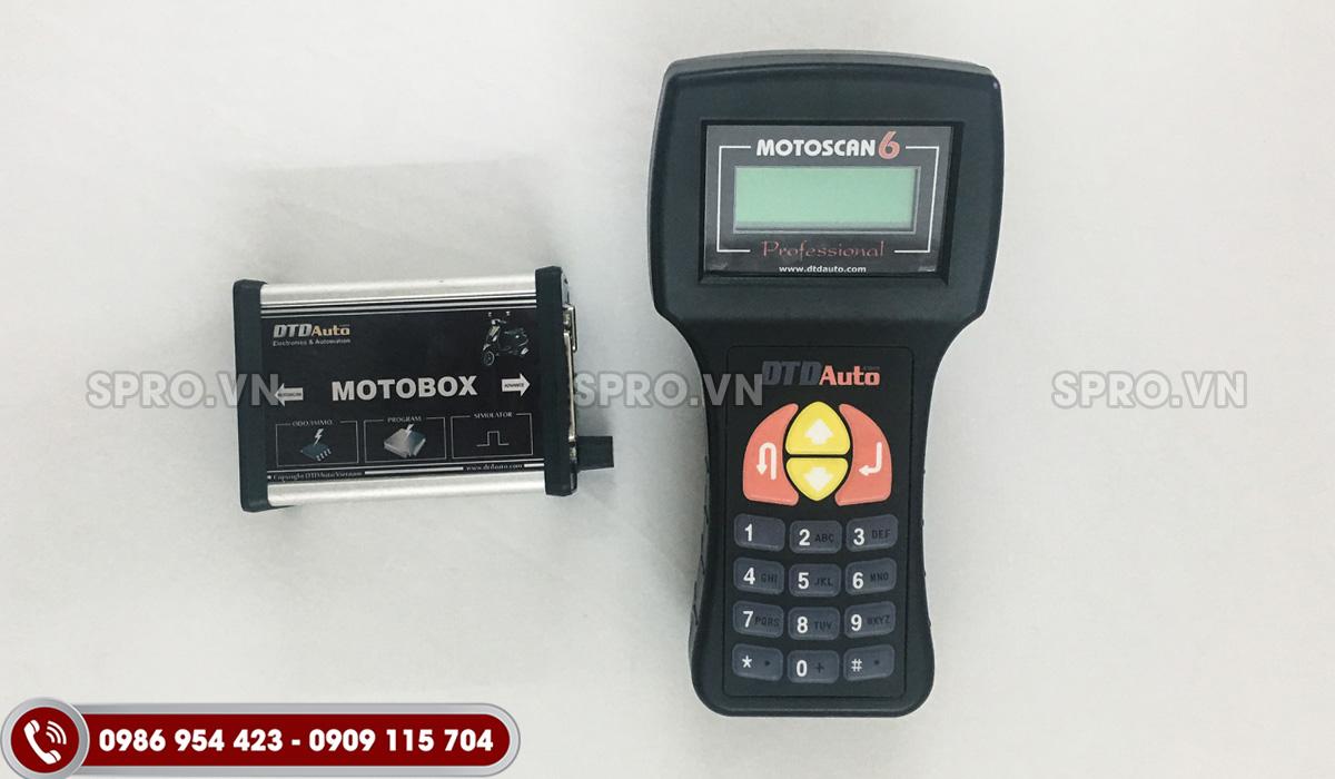 máy chuẩn đoán lỗi xe máy motoscan 6.2 và phụ kiện motobox