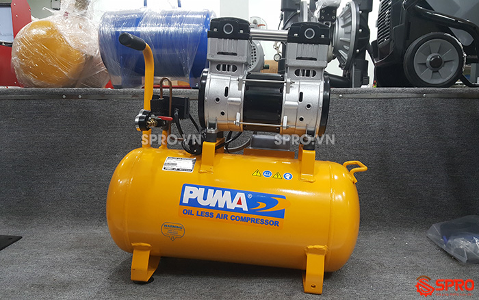 HCM - Bán máy nén khí không dầu giảm âm puma giá rẻ