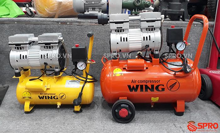 HCM - Bán máy nén khí mini không dầu giảm âm wing giá rẻ