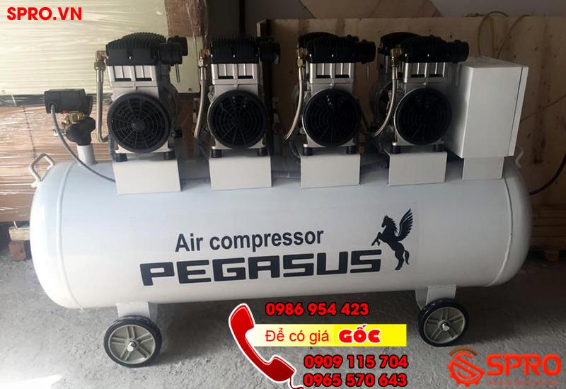Máy nén khí, máy bơm hơi không dầu giảm âm Pegasus 6 hp bình 300L giá rẻ