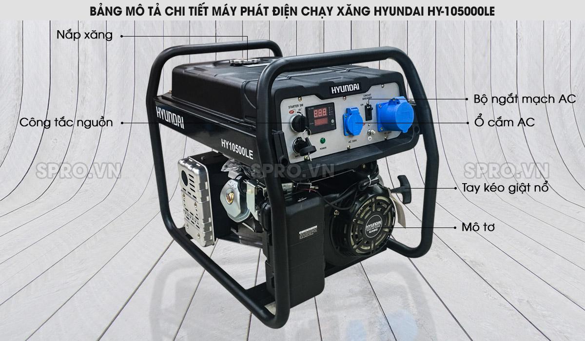 Cấu tạo máy máy phát điện Hyundai