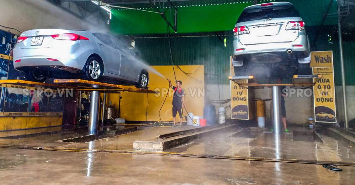 trọn bộ thiết bị rửa xe ô tô