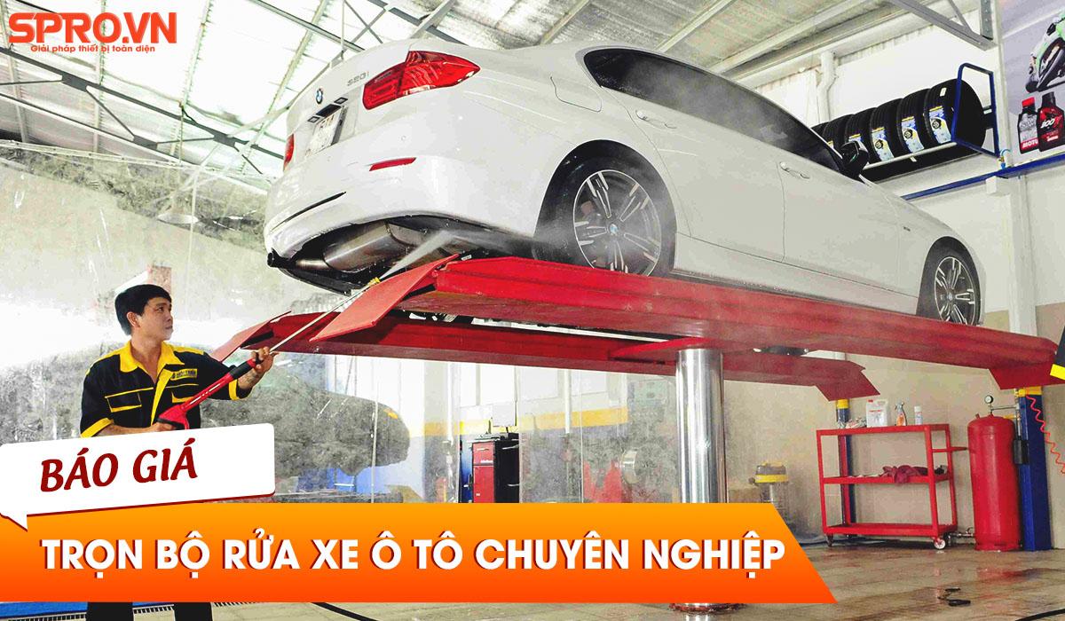 trọn bộ thiết bị rửa xe ô tô chuyên nghiệp